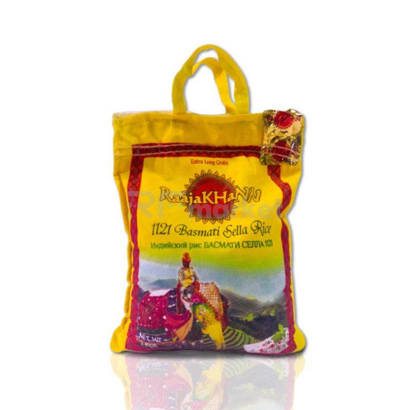 Рис пропаренный Басмати RaajaKhann, 2 кг
