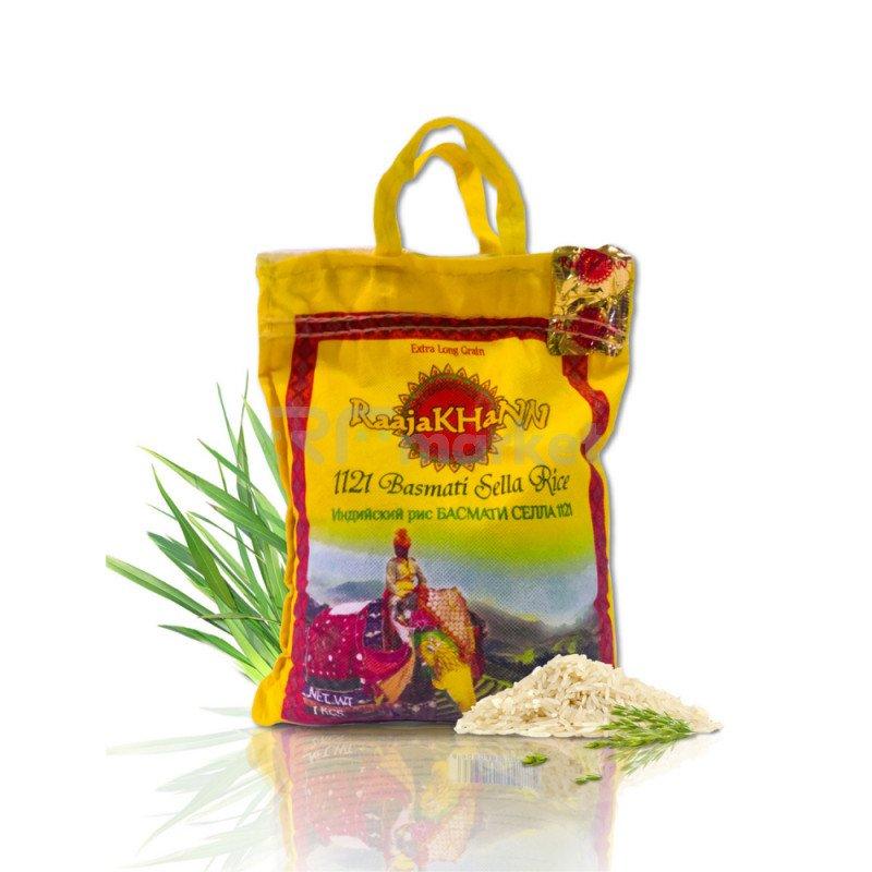 Рис пропаренный Басмати RaajaKhann, 1 кг