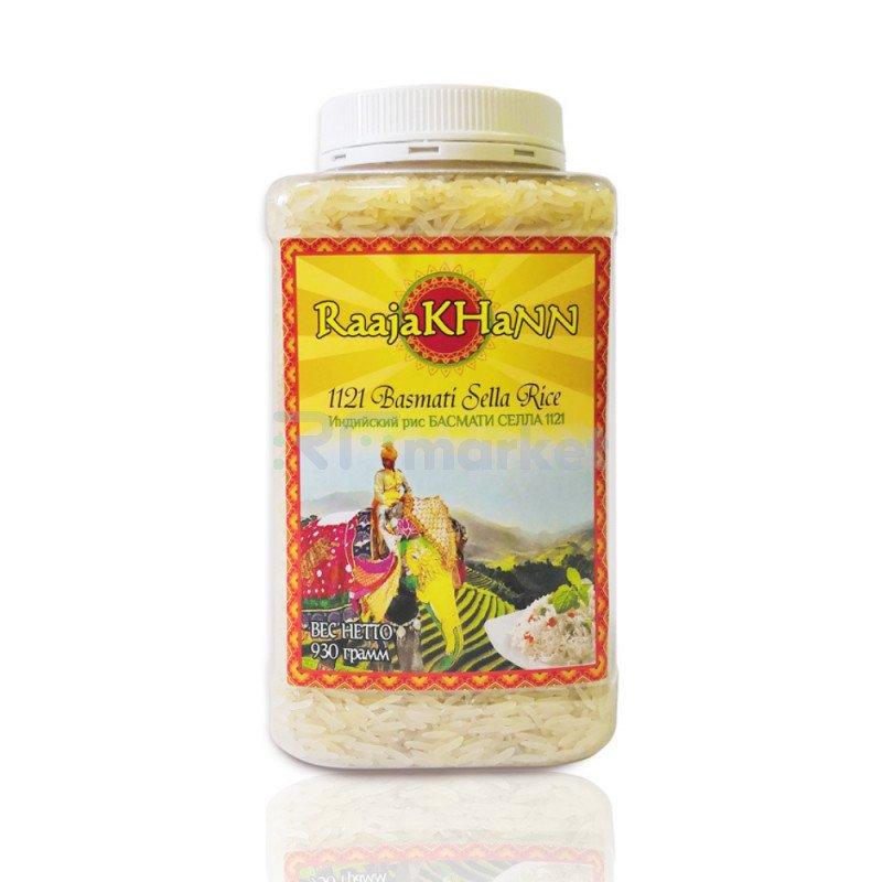 Рис пропаренный Басмати RaajaKhann, 930 г