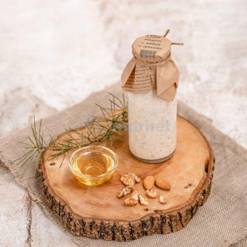 Мацони с мёдом и орехами 8,8%, 250 г