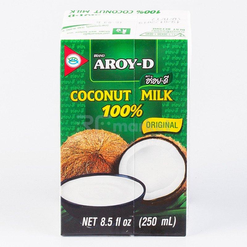 """Кокосовое молоко """"AROY-D"""" 70%, 250 мл, Tetra Pak (жирность 17-19%)"""