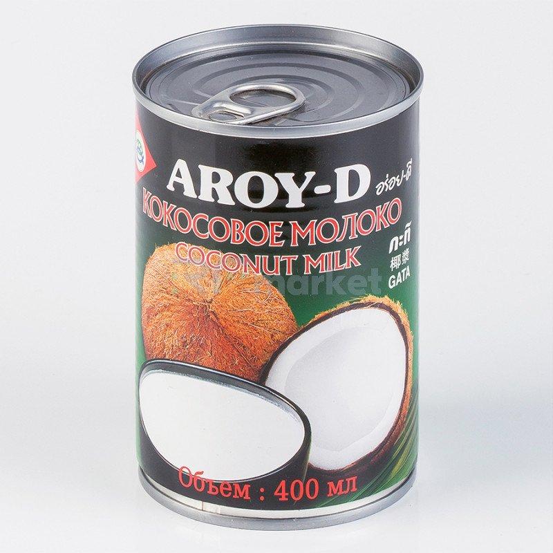 """Кокосовое молоко """"AROY-D"""" 70%, 400 мл, ж/б (жирность-17-19%)"""