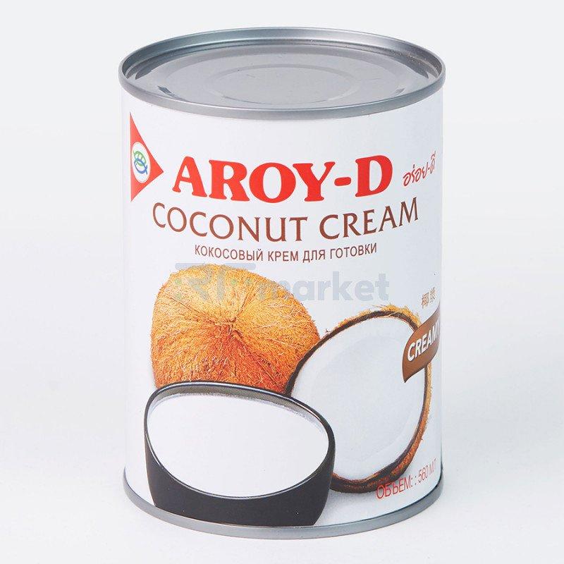 """Кокосовые сливки """"AROY-D"""" 85%, 560 мл, ж/б (жирность 20-22%)"""