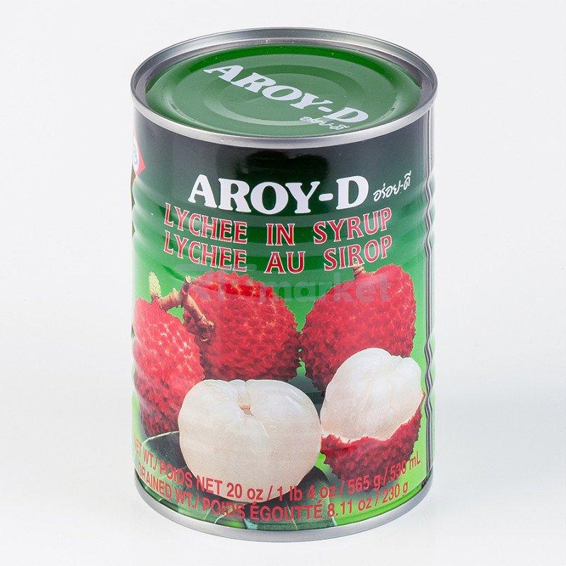 """Личи в сиропе """"AROY-D"""" 0,565 кг, ж/б"""