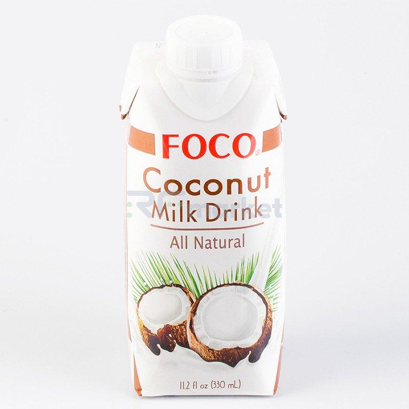 Кокосовый молочный напиток «FOCO», 330 мл, Tetra Pak