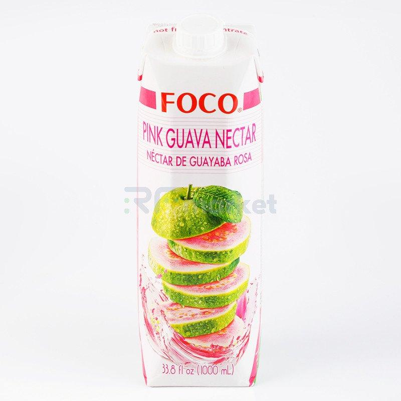 """Нектар розовой гуавы """"FOCO"""" 1 л Tetra pak"""