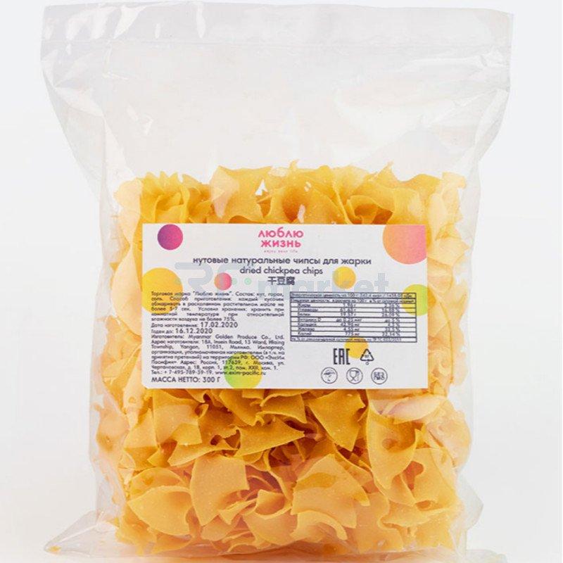 """Нутовые натуральные чипсы для жарки """"Люблю жизнь"""", 300 г, полим. пакет"""