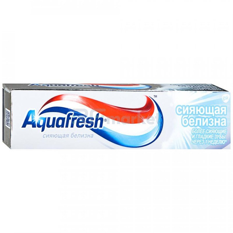 Зубная паста Aquafresh Тройная защита сияющая белизна 100 мл