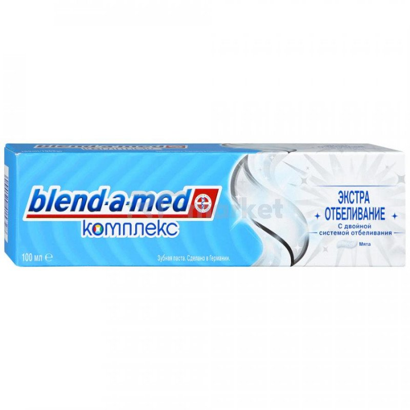 Зубная паста Blend-a-med Комплекс плюс экстра отбеливание 100 мл