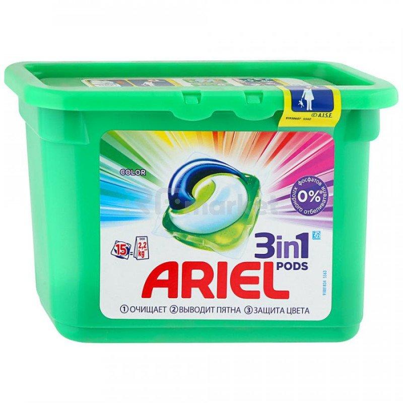 Капсулы для стирки Ariel Liquid Capsules Color 15 штук