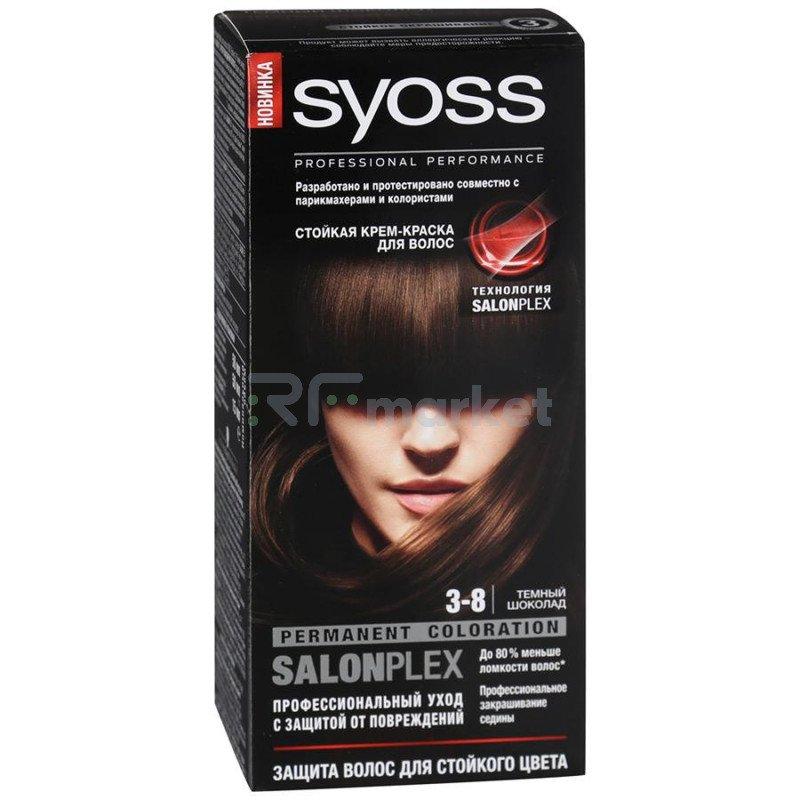 Краска для волос Syoss Color 3-8 Темный шоколад 115мл