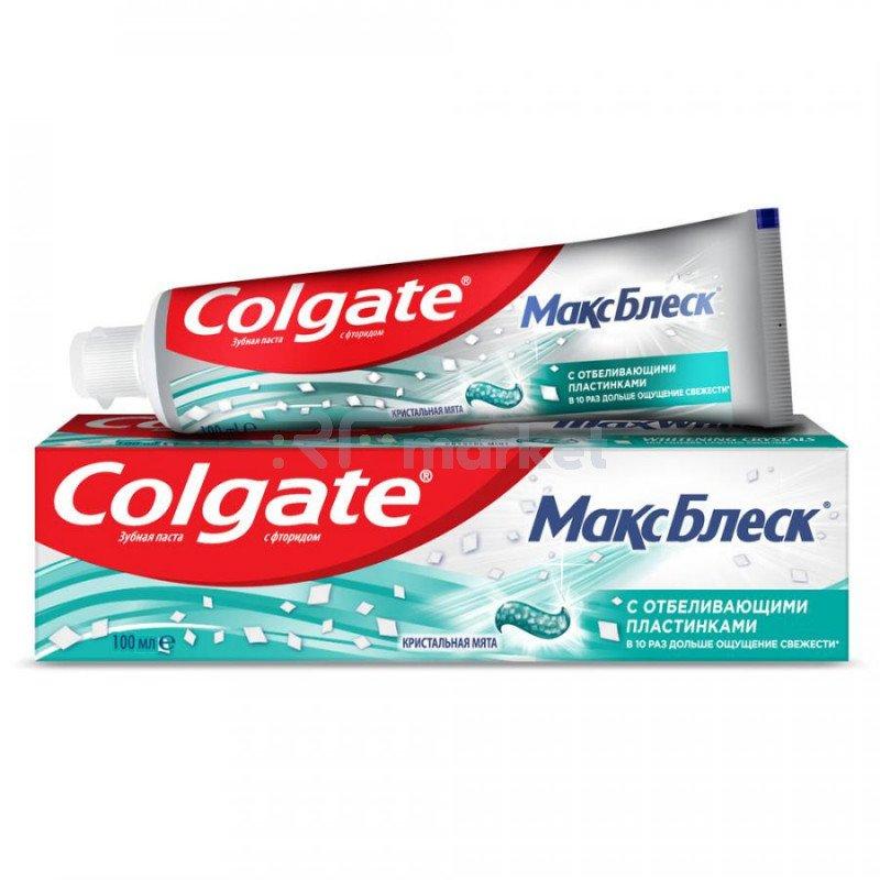Зубная паста Colgate Макс Блеск отбеливающая 100 мл