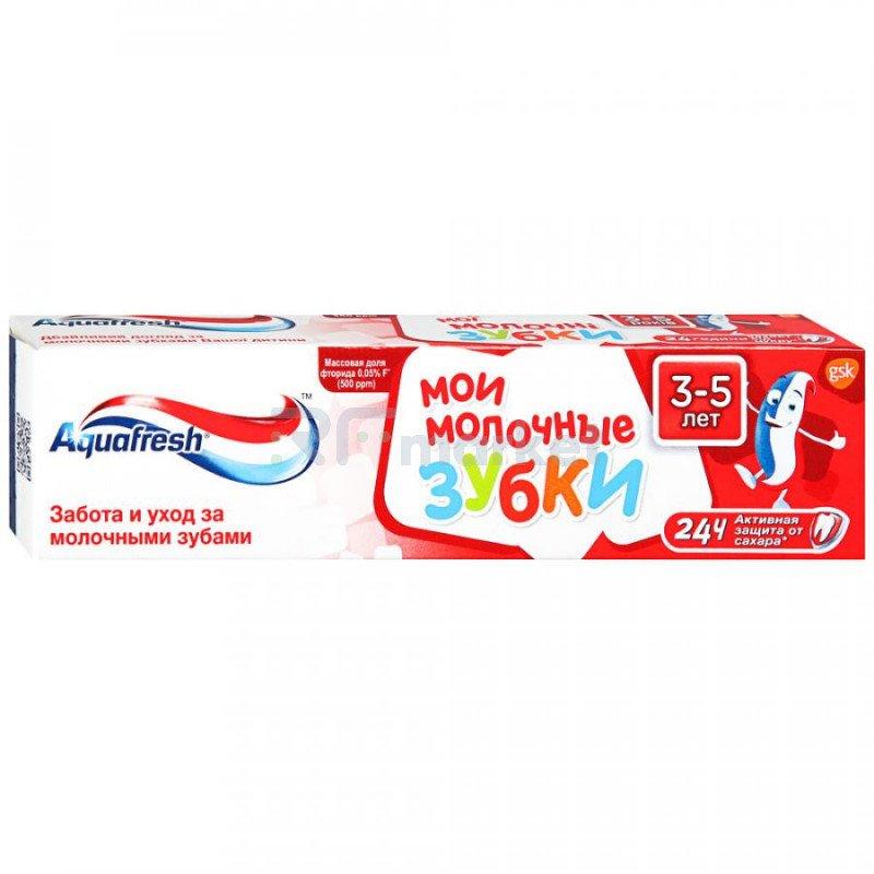 Зубная паста детская Aquafresh Мои молочные зубки от 3 до 5 лет 50 мл