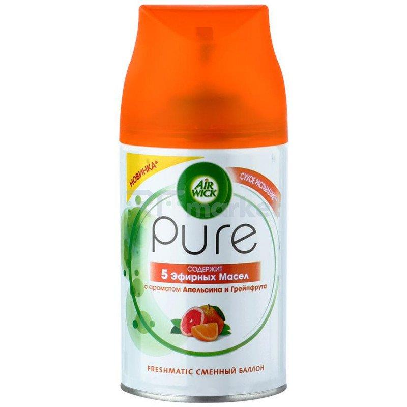 Освежитель воздуха Air Wick Pure 5 Эфирных масел с ароматом апельсина и грейпфрута сменный баллон 250 мл