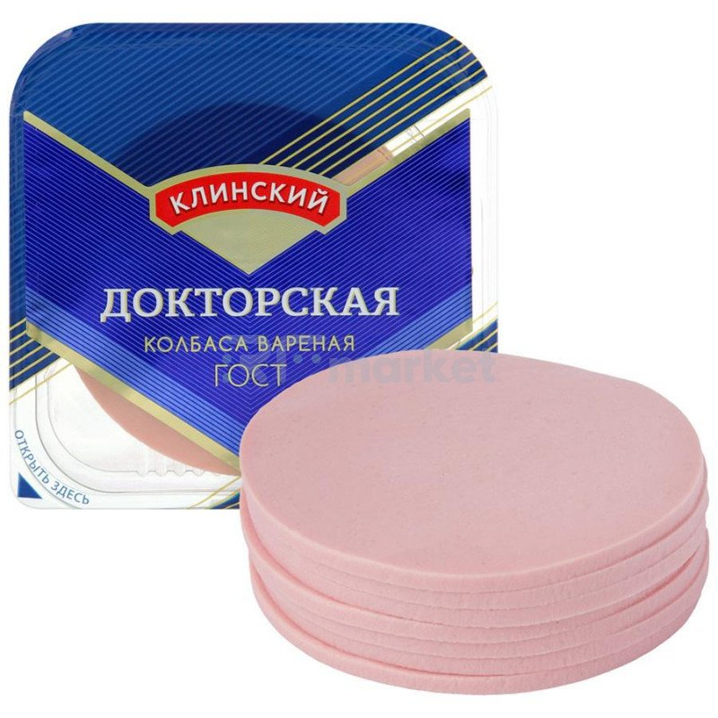 Колбаса Клинский МК Докторская вареная, 190г