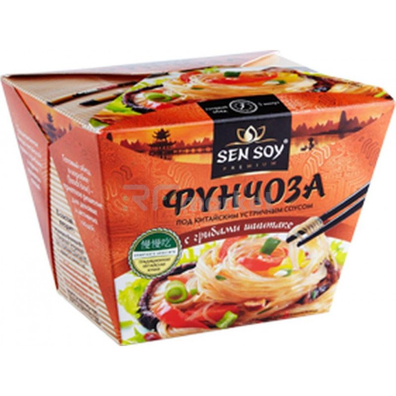 Фунчоза под Китайским устричным соусом Sen Soy, 125г