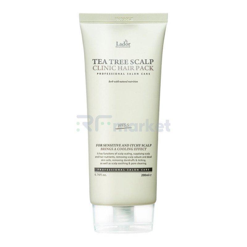 Маска для волос и кожи головы с чайным деревом. Teatree Scalp Hair Pack 200 мл.LADOR Co. Ltd.