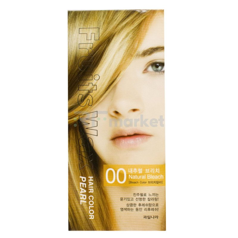 Краска для волос на фруктовой основе. Fruits Wax Pearl Hair Color #00 60 мл.*60 гр.«Welcos Co., LTD. »