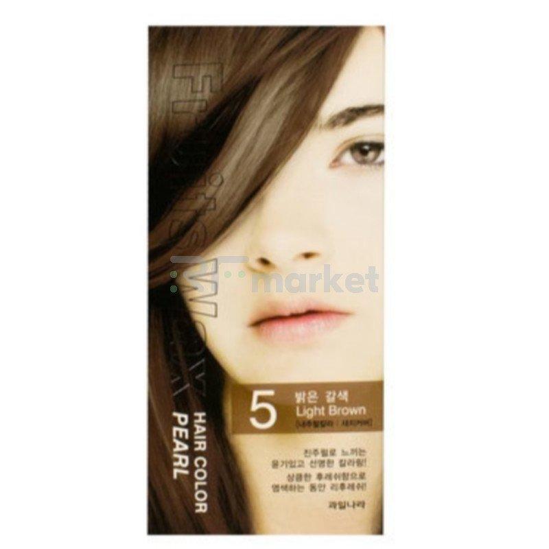 Краска для волос на фруктовой основе. Fruits Wax Pearl Hair Color #05 60 мл.*60 гр.«Welcos Co., LTD. »