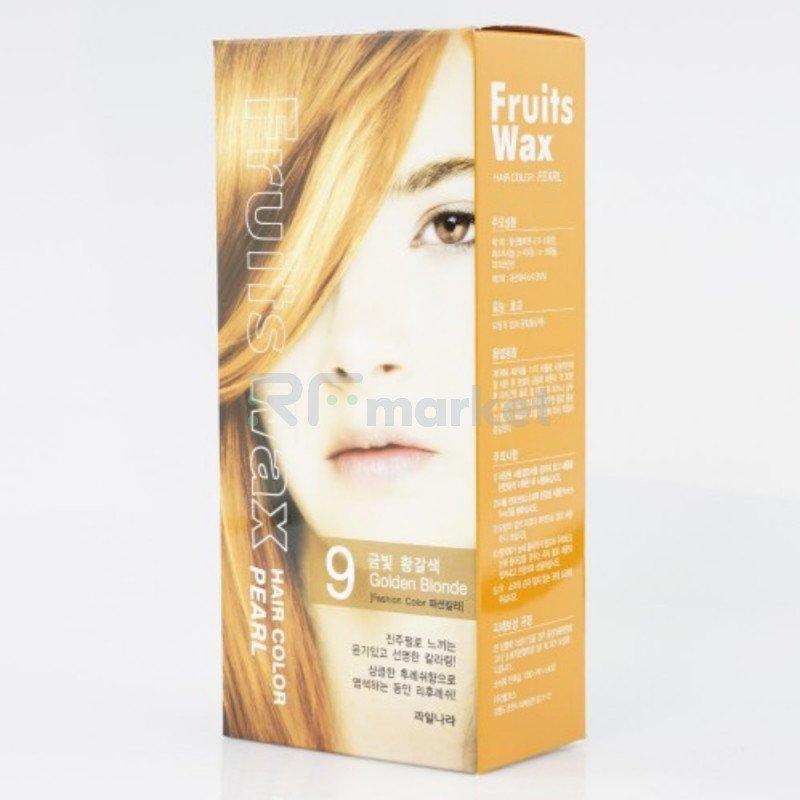 Краска для волос на фруктовой основе. Fruits Wax Pearl Hair Color #09 60 мл. * 60 гр.«Welcos Co., LTD. »
