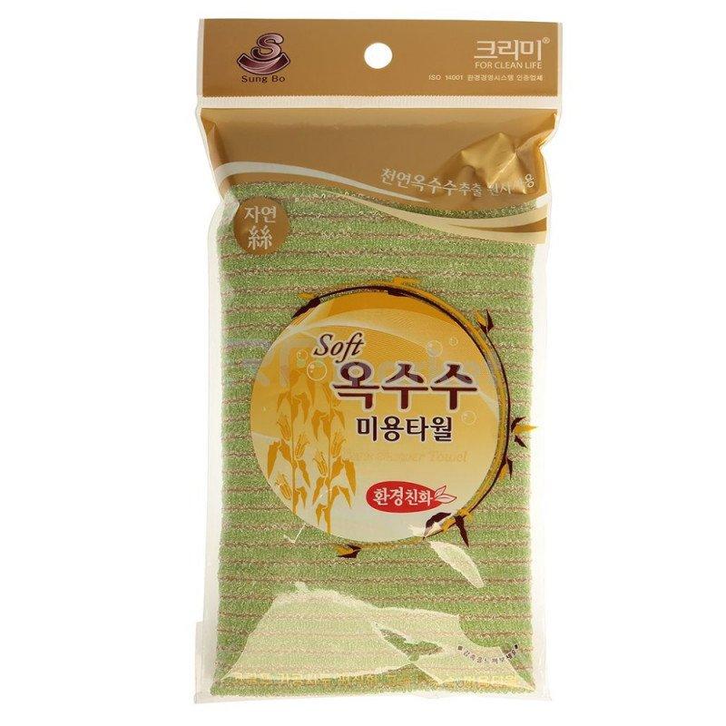 Мочалка для душа (28х100) Corn Shower Towel, 1шт.«Sung Bo Cleamy Co., Ltd.»