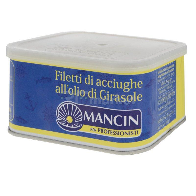 Анчоусы филе в масле, 600 гр.
