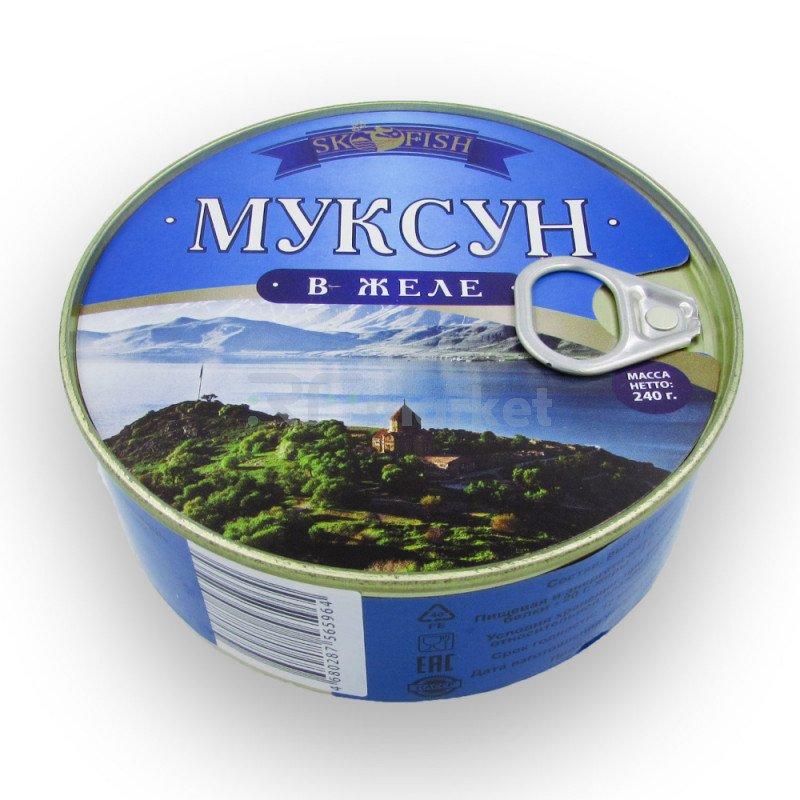 """Муксун в желе """"ЭКО"""",  240 гр."""