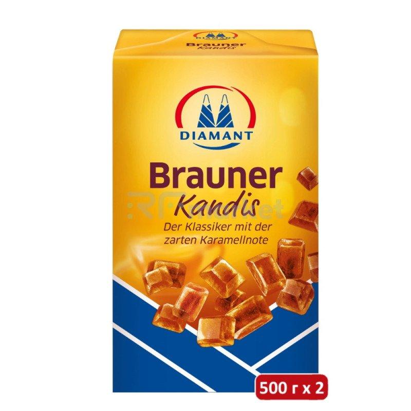 """Сахар """"DIAMANT"""" коричневый леденец, 500гр"""