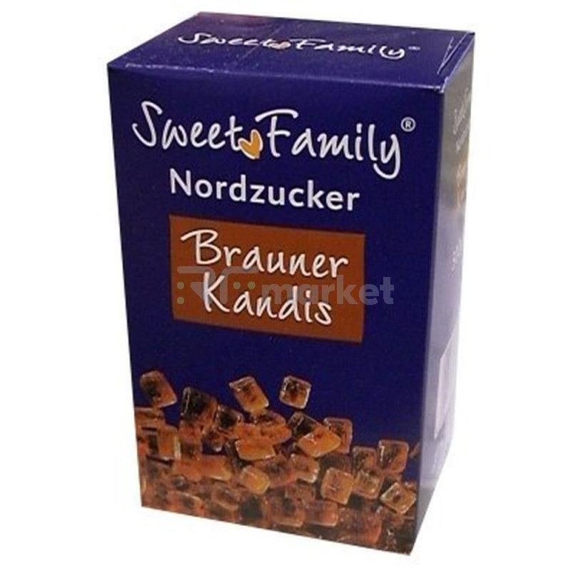 """Сахар """"Sweet Family"""" кусок коричневый тростниковый,  500гр"""