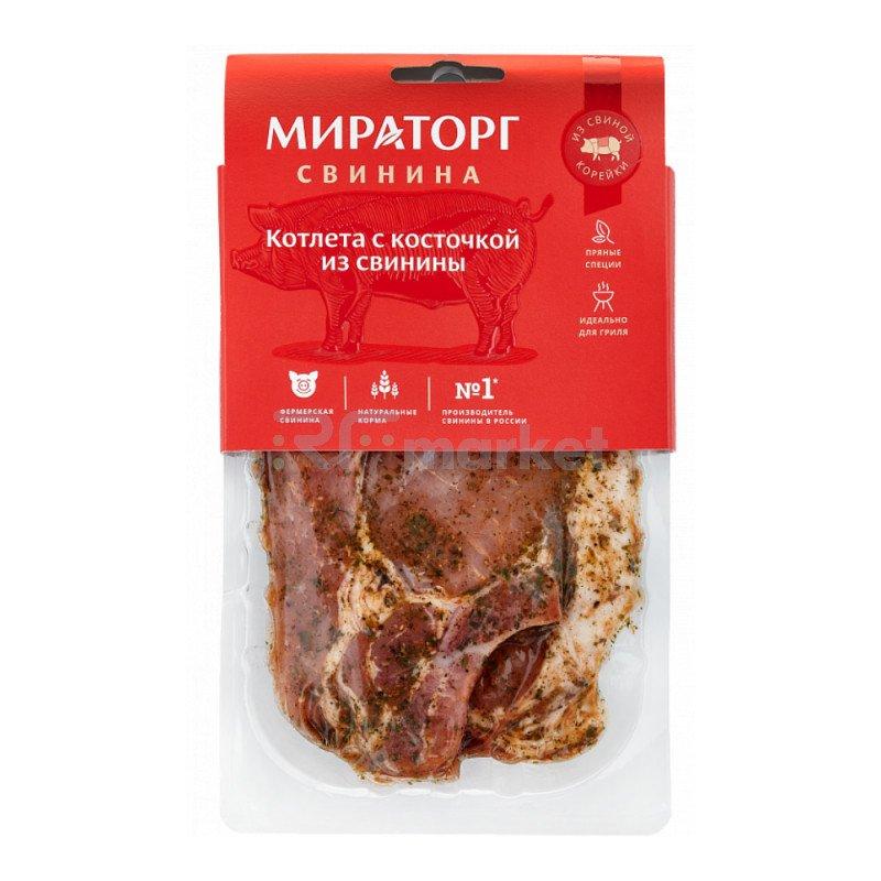 Стейк свиной «Котлета с косточкой» охлажденный 400 г, Мираторг