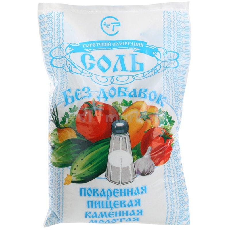"""Соль помол №1 """"Тырецкая"""" фасованная, 1000 г"""