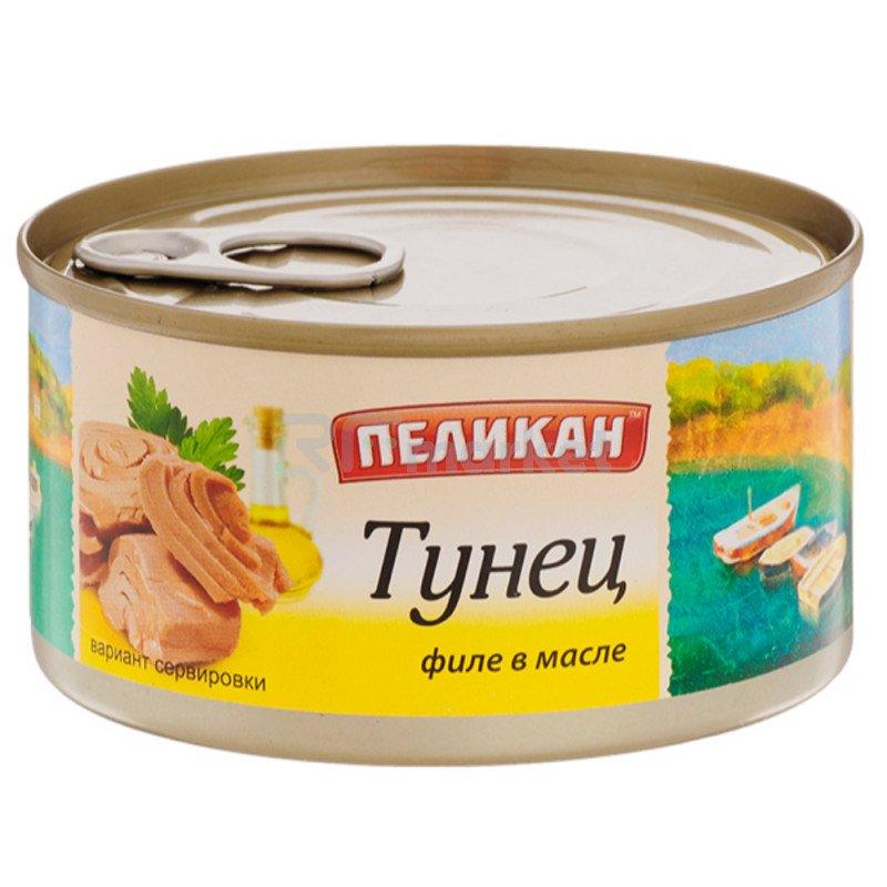 """Тунец в масле """"Пеликан"""", 185гр"""