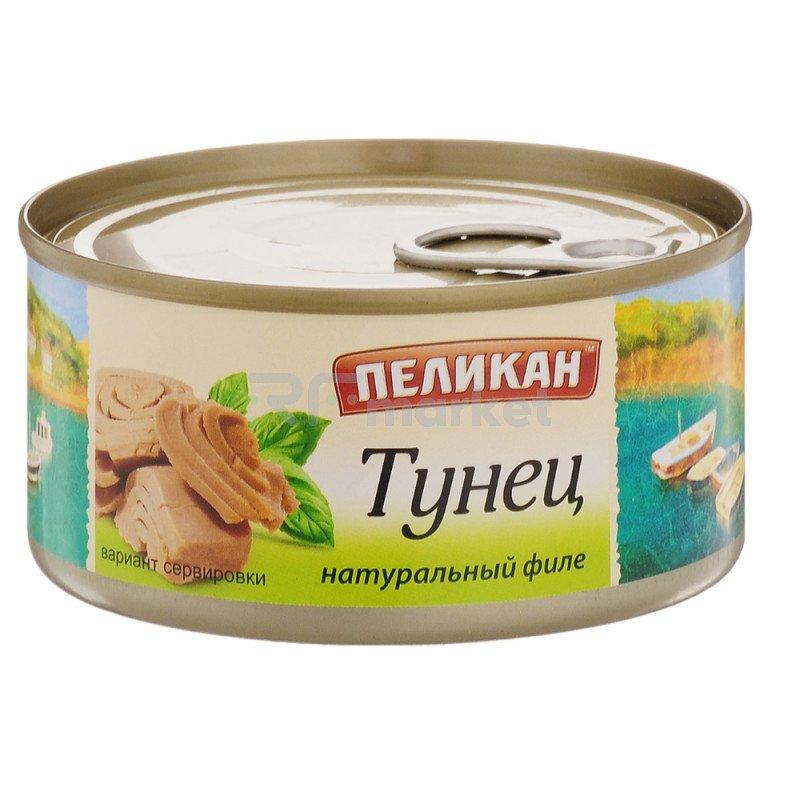 """Тунец в собственном соку """"Пеликан"""", 185гр"""