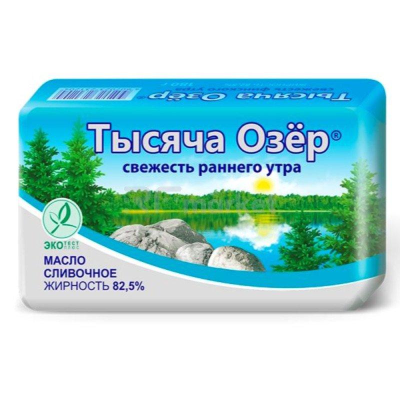 "Масло сливочное ""Тысяча озер"" 82.5%, 180гр."