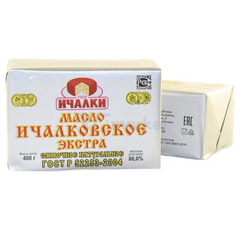 """Масло сливочное """"Ичалковское"""" 80%, 400 гр."""
