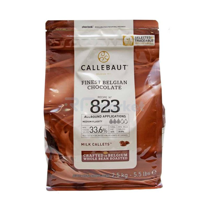 "Шоколад  Молочный 33,6% ""Callebaut"" (Бельгия) , 2,5кг"