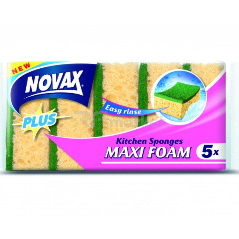 """Губки кухонные """"Novax"""" Maxi Foam,  5шт."""