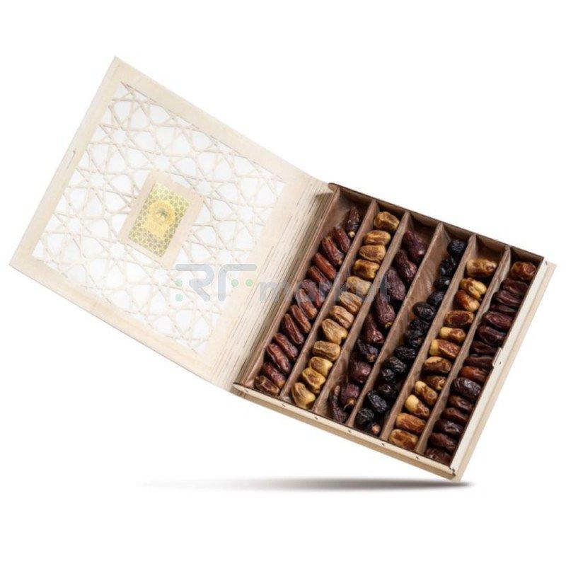 Деревянная подарочная коробка с финиками, 400 г
