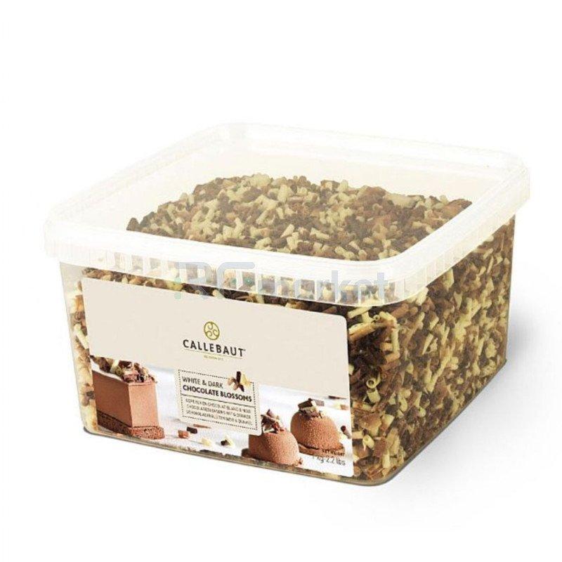 """Шоколад завитки белый/темный """"Callebaut"""" (Бельгия), 1000гр."""