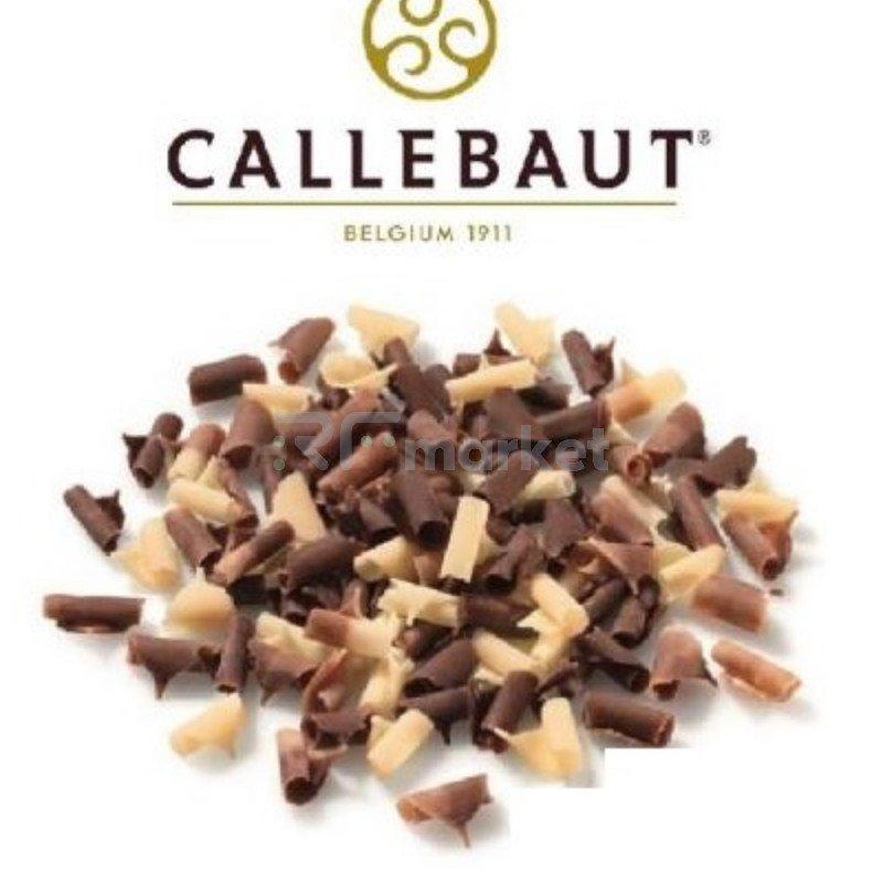 """Шоколад завитки молочный/белый """"Callebaut"""" (Бельгия), 1000гр."""